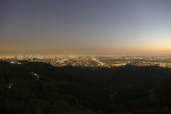 Nuit de Los Angeles Photo stock