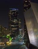 Nuit de Los Angeles la Californie Images stock