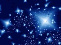 Nuit de lumière des étoiles Image libre de droits