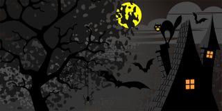 Nuit de lune illustration de vecteur