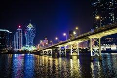 Nuit de Macao Photo libre de droits