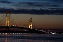 Nuit de Mackinaw Photographie stock