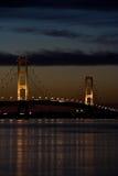 Nuit de Mackinaw Images stock
