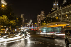 nuit de Madrid Photo stock