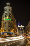 nuit de Madrid Images stock