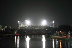Nuit de magnétocardiogramme Melbourne Images libres de droits