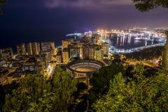 Nuit de Malaga Image stock