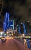 nuit de marina du Dubaï photo stock