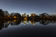 Nuit de Midtown d'Atlanta photo stock