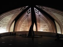 nuit de monument du Pakistan Photographie stock libre de droits