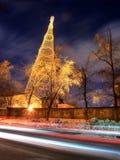 Nuit de Moscou Photographie stock libre de droits