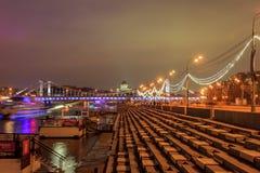 Nuit de Moscou photos libres de droits