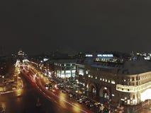 Nuit de Moscou photo libre de droits