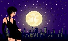 Nuit de mystère Illustration de Vecteur