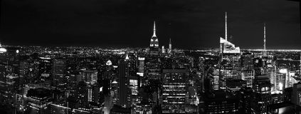 Nuit de New York Photos libres de droits