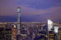 Nuit de New York Photos stock