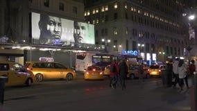 Nuit de New York City banque de vidéos