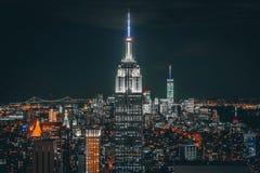 Nuit de New York City photos libres de droits