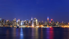 Nuit de New York City Images stock