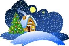 Nuit de Noël illustration stock
