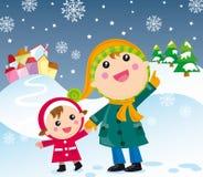 Nuit de Noël illustration libre de droits