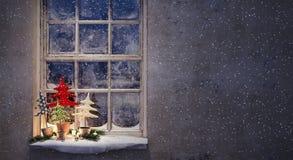 Nuit de Noël de attente Photographie stock libre de droits