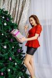 Nuit de Noël avec des surprises du ` s de nouvelle année Photos libres de droits