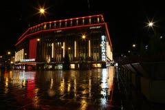 Nuit de Noël de Helsinki image libre de droits