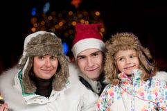 Nuit de Noël heureux Images libres de droits