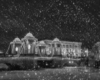 Nuit de Noël magique à St Petersburg, hiver en Russie Photo libre de droits