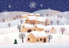 Nuit de Noël Photo libre de droits