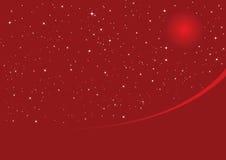 Nuit de Noël rouge Photo stock