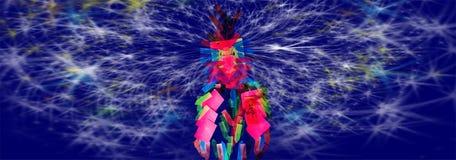 Nuit de note d'amour de perroquet d'étoile Images stock