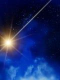 Nuit de nuages d'étoiles de ciel illustration stock