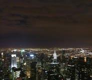 Nuit de nyc de vue   Images stock