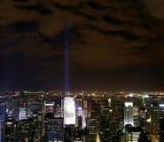 Nuit de nyc de vue   Photographie stock libre de droits