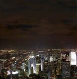 Nuit de nyc de vue   Photographie stock