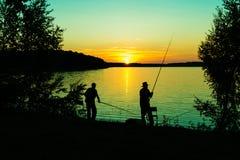Nuit de pêche Images stock