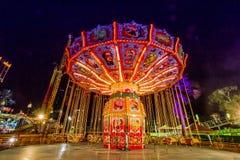 Nuit de parc d'oscillation Images libres de droits