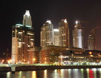 nuit de paysage urbain de buenos d'aires Photos stock