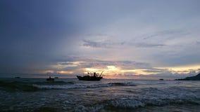 Nuit de plage Photographie stock libre de droits