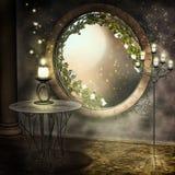 Nuit de pleine lune illustration stock