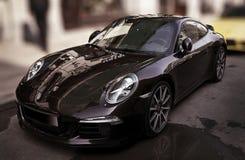 Nuit de Porsche Photos libres de droits