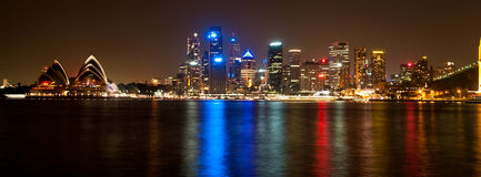 Nuit de port de Sydney Photo libre de droits