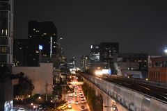 Nuit de rue ? Bangkok Tha?lande image libre de droits