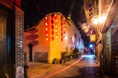 Nuit de rue de Diantou Photographie stock libre de droits