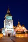 Nuit de rue Michael de Kiev Photographie stock libre de droits