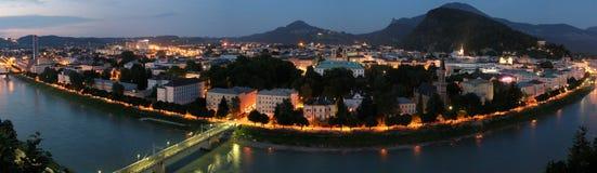 Nuit de Salzbourg images libres de droits