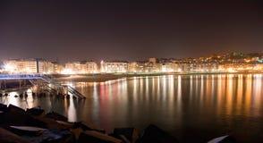 Nuit de San Sebastian Photographie stock