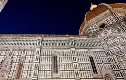 Nuit de Santa Maria del Fiore Florence Firenze Tuscany Italie de Di de basilique de Duomo Images stock